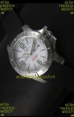 Ball Hydrocarbon Spacemaster Automatic Day Date Rubber Strap in White Dial - Original Citizen Movement