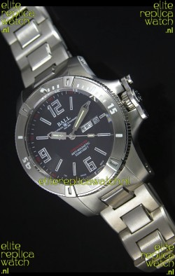 Ball Hydrocarbon Spacemaster Automatic Replica Day Date Watch in Black Dial - Original Citizen Movement