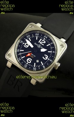 Bell and Ross BR01-93 GMT Japanese Replica Watch in Steel Case