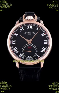Chopard Louis-Ulysse The Tribute Rose Gold Black Dial Swiss Watch
