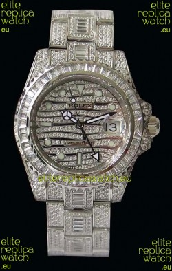 Rolex GMT Masters II Iced out Swiss Replica Watch