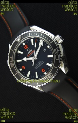 Omega Seamaster Planet Ocean Swiss Black Strap Replica 45MM 1:1 Ultimate Edition Watch
