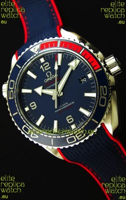 Omega Seamaster Planet Ocean Pyeong Chang 2018 Edition Swiss Replica Watch 1:1 Mirror Edition