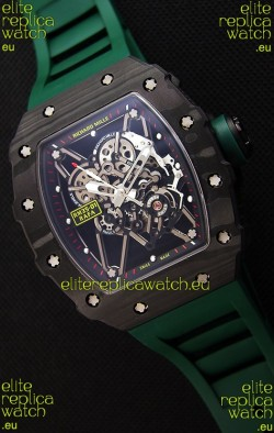 Richard Mille RM35-01 Rafael Nadal Forged Carbon Case with Green Strap