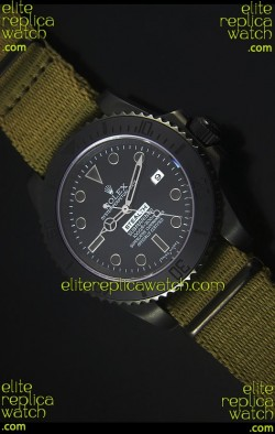 Rolex Submariner Stealth MK IV PVD Swiss Replica Watch Black Hour Markers