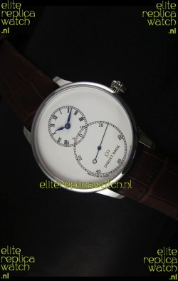 Jaquet Droz Grande Seconde Ivory Enamel Stainless Steel Case Watch in White Dial