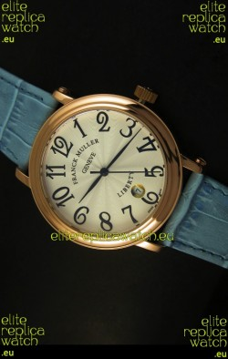 Franck Muller Master of Complications Liberty Japanese Watch Blue Strap