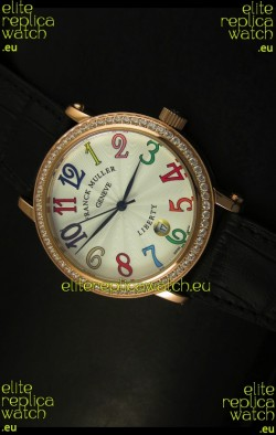 Franck Muller Master of Complications Liberty Japanese Watch in Black Strap
