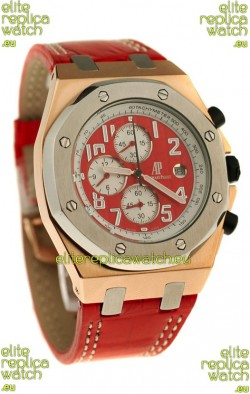 Audemars Piguet Royal Oak Offshore Limited Edition SingaporeGP 2008 Japanese Watch in Red Dial
