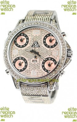 Jacob & Co Diamond Watch in Pink Subdials
