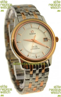 Omega Co-Axial Deville Japanese Rose Gold Watch in Rose Gold Stick Markers