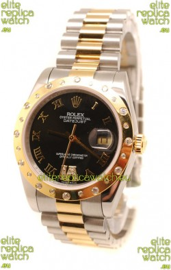 Rolex DateJust Mid-Sized Japanese Replica Gold Watch