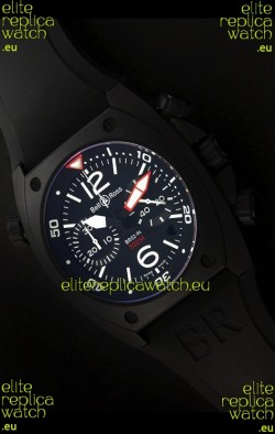 Bell and Ross BR-02 Tonneau Swiss Replica Watch in Black Dial