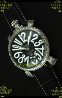 Gaga Milano Italy Manuale Replica Japanese Watch in White Markers
