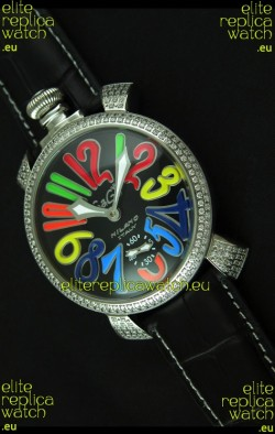 Gaga Milano Italy Manuale Replica Japanese Watch in Colorful Markers
