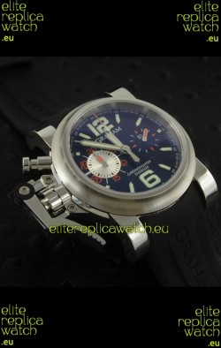 Graham Chronofighter Oversize Swiss Replica Watch in Black Dial