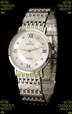 Omega DeVelie Japanese Replica Watch in Diamond Markers