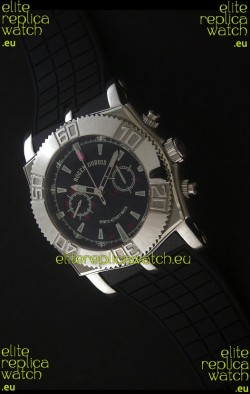 Roger Dubuis Lemania Easy Diver Swiss Watch in Black Dial