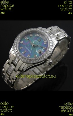 Rolex Oyster Perpetual Day Date Japanese Replica Watch in Blue Mother of Pearl Dial
