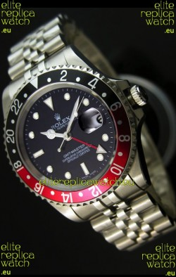 Rolex Replica GMT Masters Watch with Black/Red Bezel