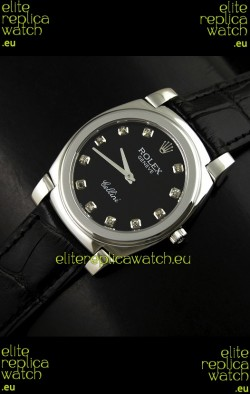 Rolex Cellini Japanese Replica Steel Watch in Numeral Markers
