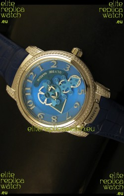 Ulysse Nardin Dual Escapement Japanese Watch in Blue Dial
