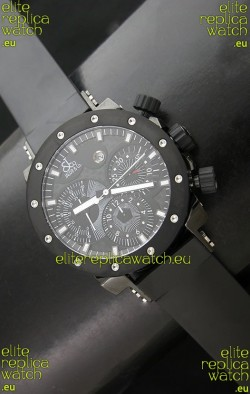 Jacob and Co EPIC II E1 Chonograph PVD Swiss Watch