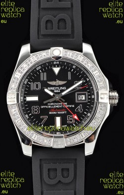 Breitling Avenger Steel GMT Swiss Watch 1:1 Ultimate Edition - Black Dial