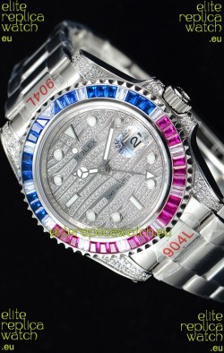 Rolex GMT Masters II Iced out Swiss watch with 904L Steel Case