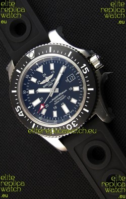 Breitling SuperOcean 44 Special Steel Swiss Replica Watch with Rubber Strap