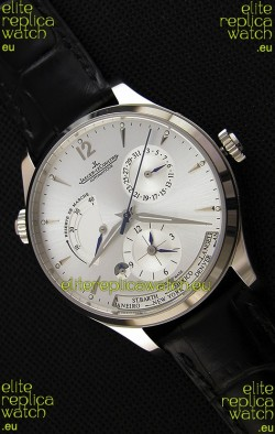 Jaeger LeCoultre Master Geographic Power Reserve Steel Case Steel Dial Swiss Replica Watch