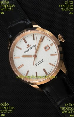 Jaeger LeCoultre Geophysic True Second Pink Gold Swiss Replica Watch White Dial