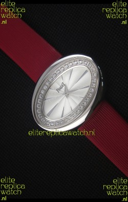 Piaget Limelight Magic Hour Swiss Quartz Steel Case in Red Strap