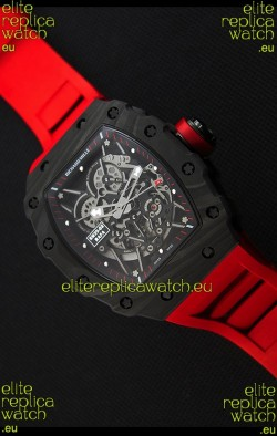 Richard Mille RM35-2 Rafael Nadal Forged Carbon Case with Red Strap