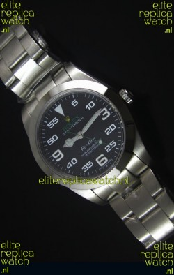 Rolex Oyster Perpetual 116900 AIR KING Swss Replica Watch in Black Dial