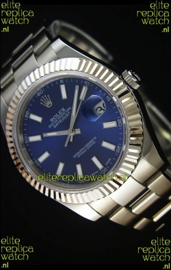 Rolex Datejust II 41MM with Cal.3136 Movement Swiss Replica Watch in Navy Blue Dial