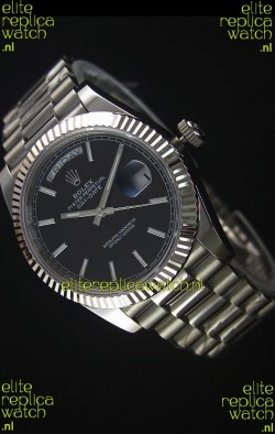 Rolex Day-Date Stainless Steel Replica Watch 40MM 2836-2 Swiss Movement