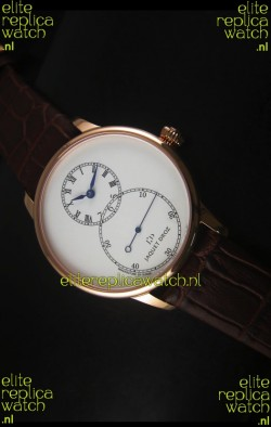 Jaquet Droz Grande Seconde Ivory Enamel Rose Gold Case Watch in White Dial