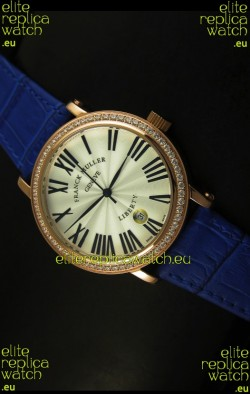Franck Muller Master of Complications Liberty Japanese Watch in Purple Strap