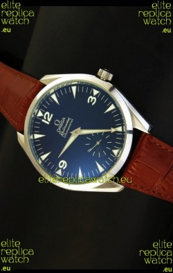 Omega Seamaster Railmaster Japanese Replica Watch in Brown Leather Strap