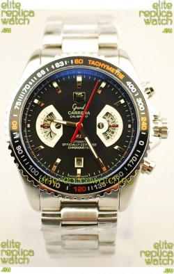 Tag Heuer Grand Carrera RS2 Japanese Replica Watch in Black Dial