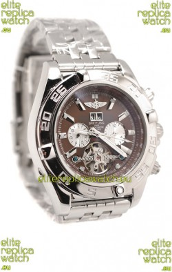 Breitling Chronograph Chronometre Replica Watch in Brown Dial