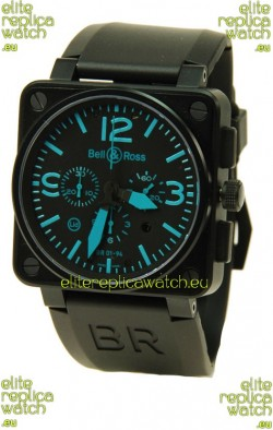 Bell and Ross BR01-94 Edition Swiss Replica Automatic Watch in Blue Markers