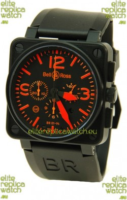 Bell and Ross BR01-94 Edition Swiss Replica Automatic Watch in Orange Markers