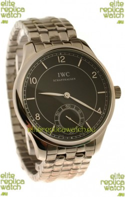 IWC Portugese Automatic Japanese Watch in Black Dial