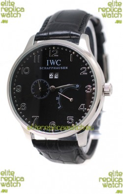IWC Portuguese Minute Repeater Japanese Watch in Black Dial