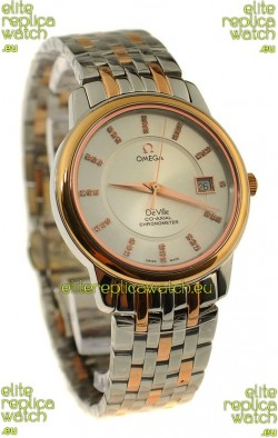 Omega Co-Axial Deville Japanese Rose Gold Watch