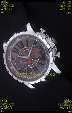 Roger Dubius Excalibur Chronoexcel Swiss Watch in Brown Dial