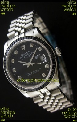Rolex Datejust JapaneseReplica Automatic Watch in Black Dial