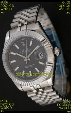 Rolex Datejust Japanese Replica Watch in Grey Dial